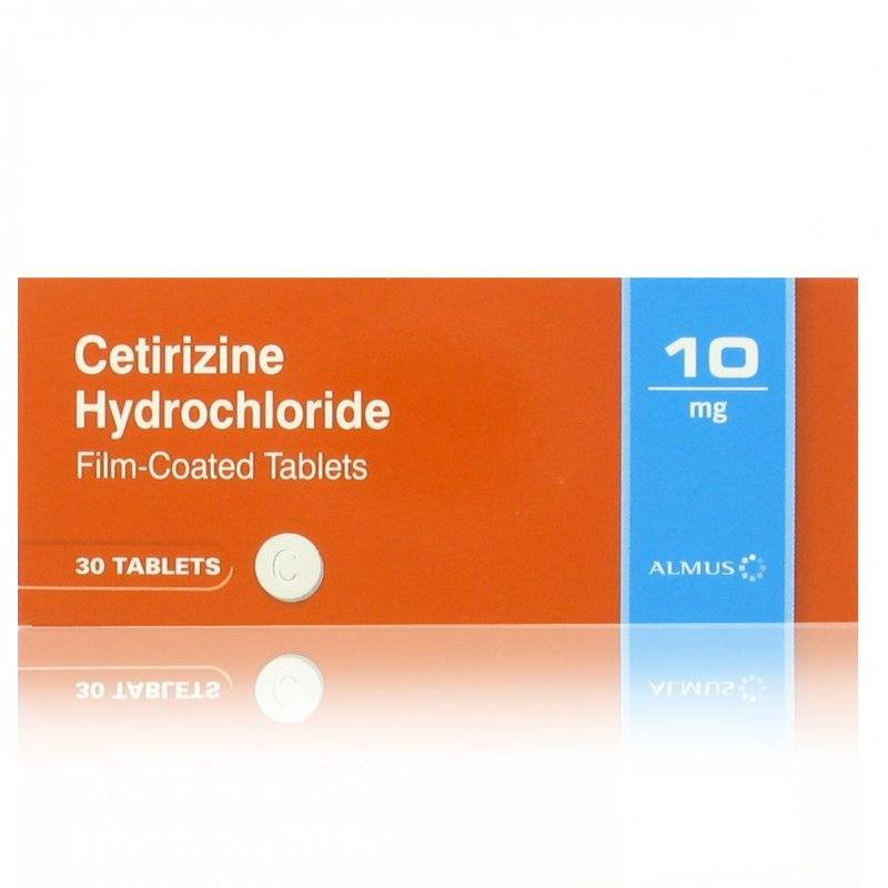 Due to limited data on the efficacy and safety of the application of cetirizine