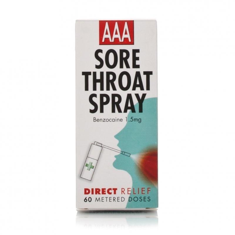Stockists of Aaa Sore Throat Spray