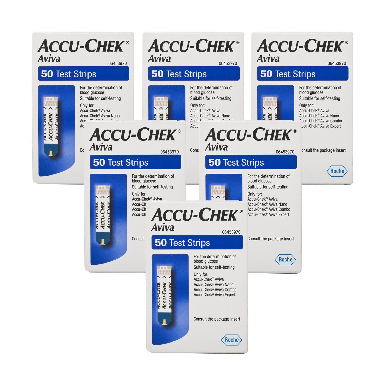 AccuChek Aviva Glucose Test Strips  6 Pack