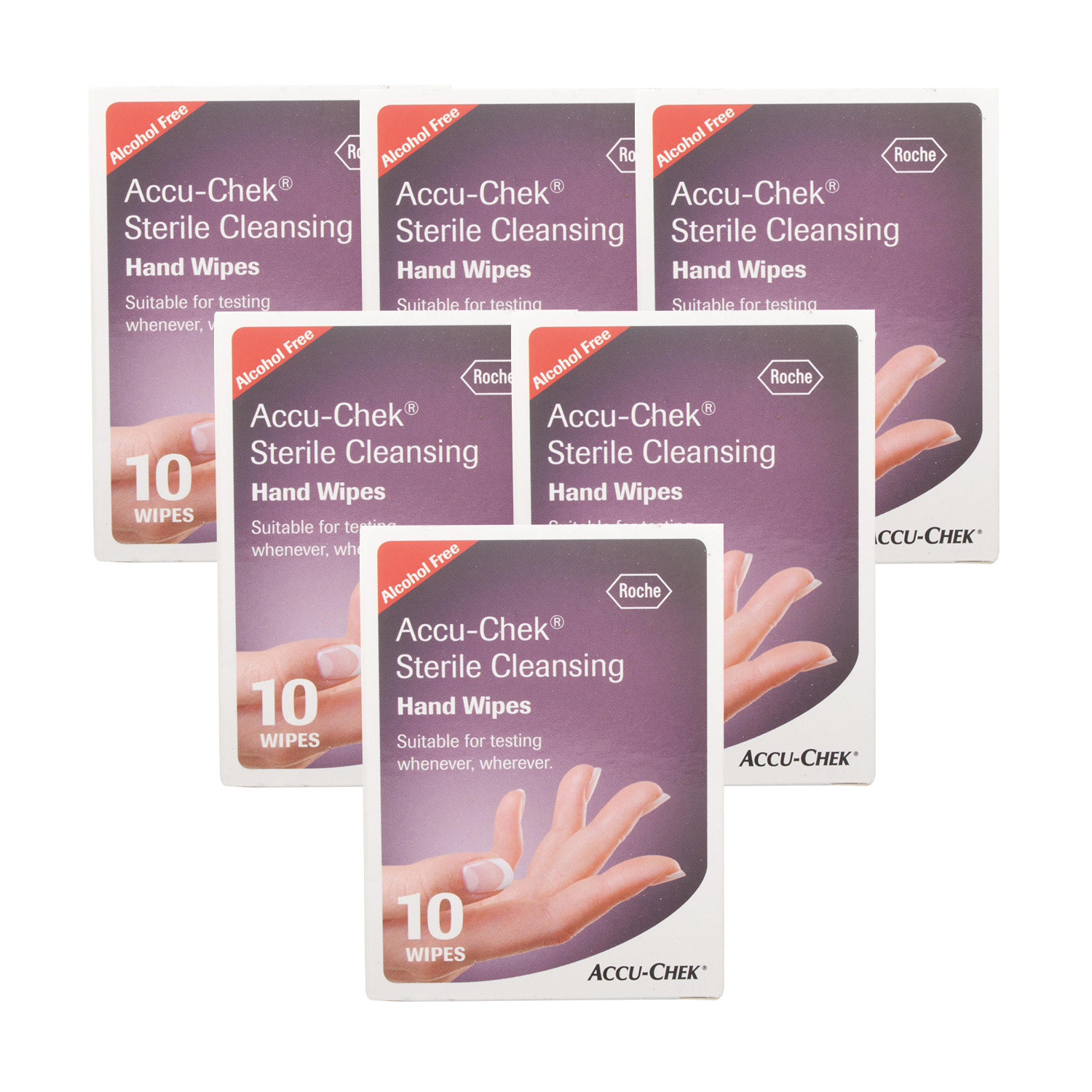 Stockists of Accu-Chek Sterile Cleansing Hand Wipes - 60 Wipes