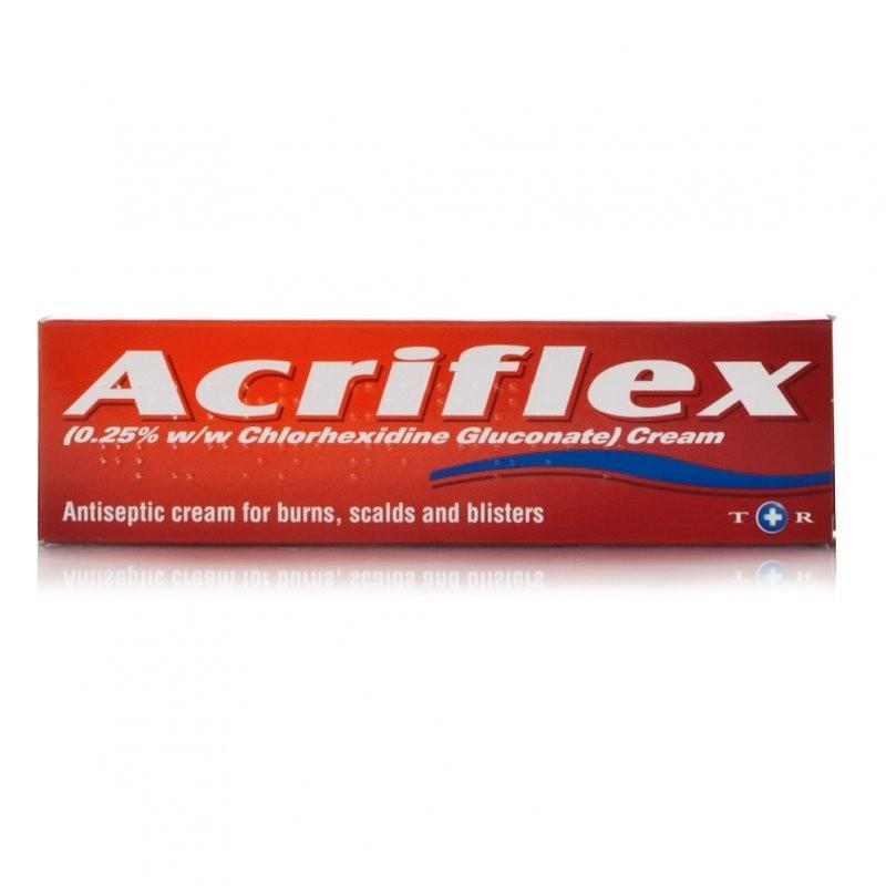 Stockists of Acriflex Antiseptic Burns Cream