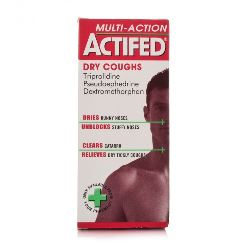 Stockists of Actifed Multi-Action Dry Coughs