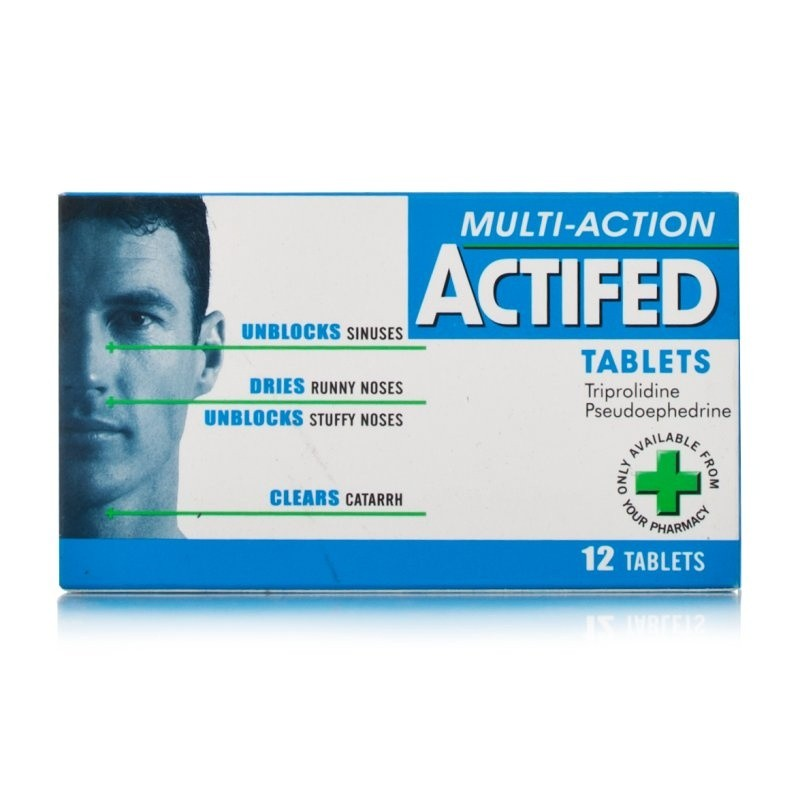 Stockists of Actifed Multi-Action Tablets