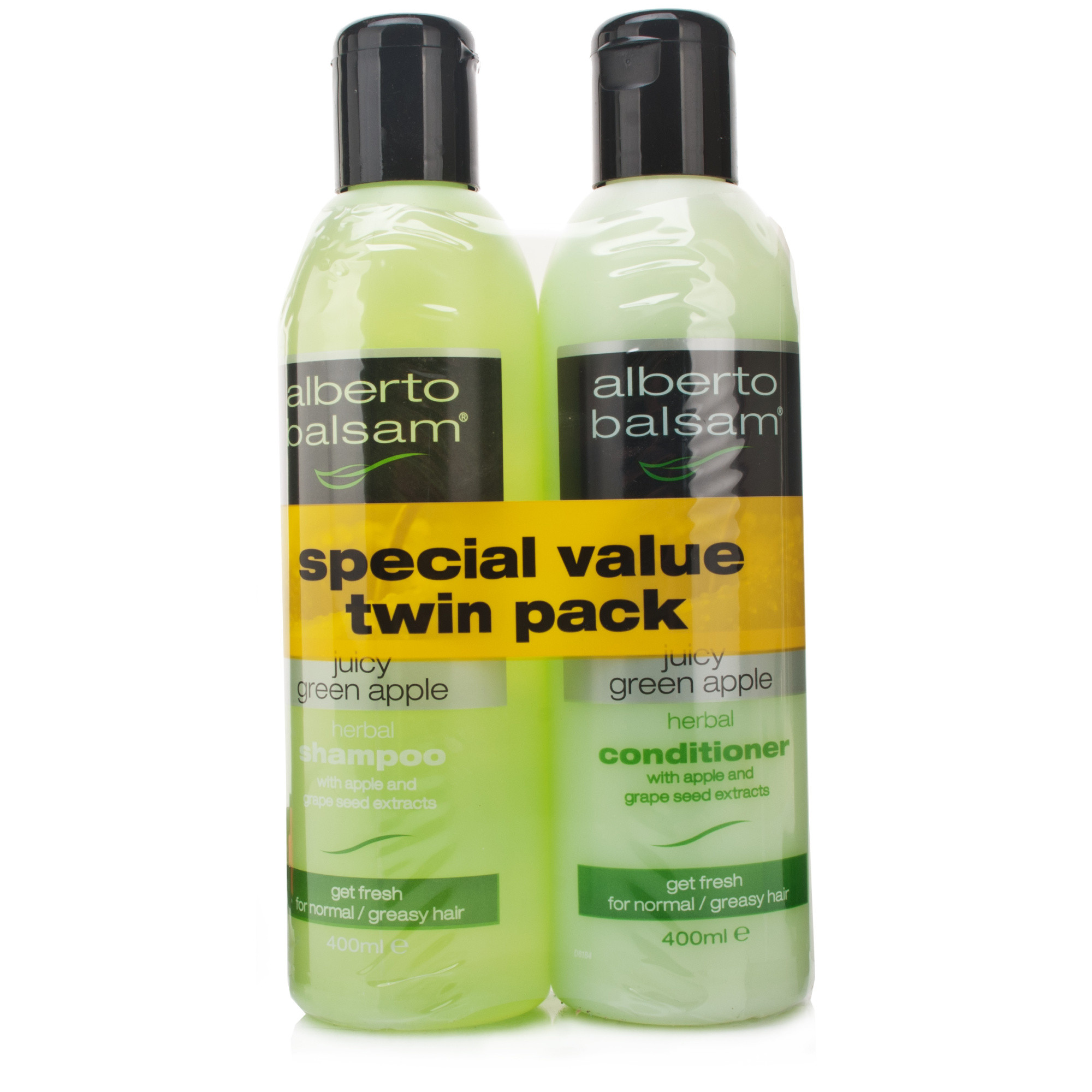 Alberto Balsam Juicy Green Apple Shampoo & Conditioner Twin Pack