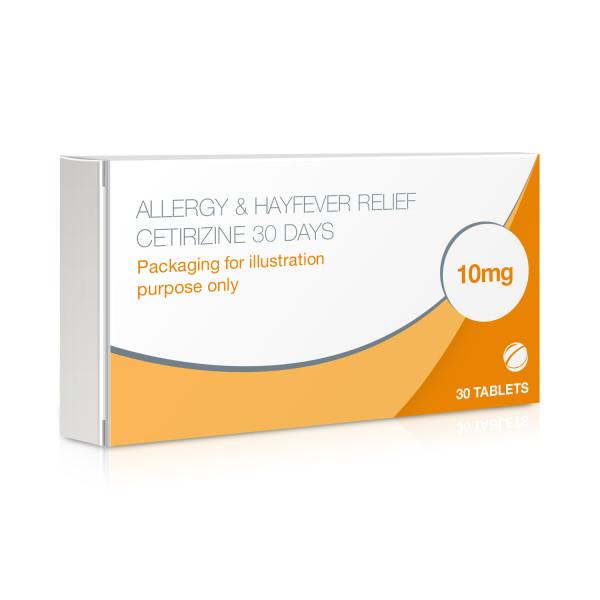 Allergy & Hayfever Relief Tablets Cetirizine 30 Days