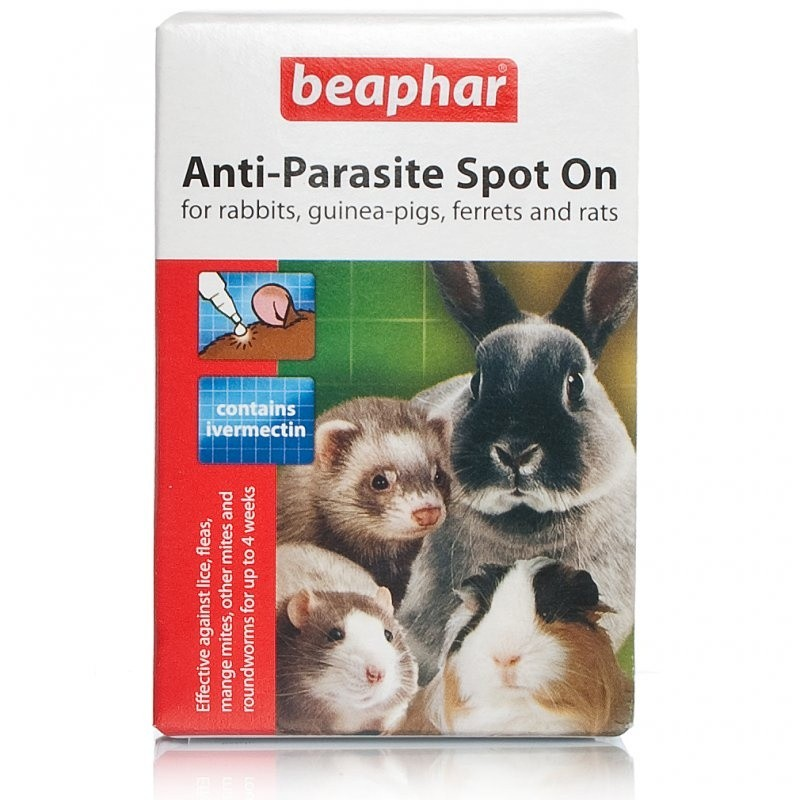 Beaphar Anti-Parasite Spot-On For Rabbits Guinea Pigs Rats & Ferrets