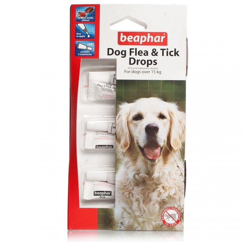 Beaphar Flea And Tick Drops For Large Dogs