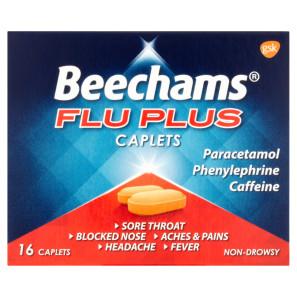 Buy Beechams Flu Plus Cold And Flu Relief Caplets 16s