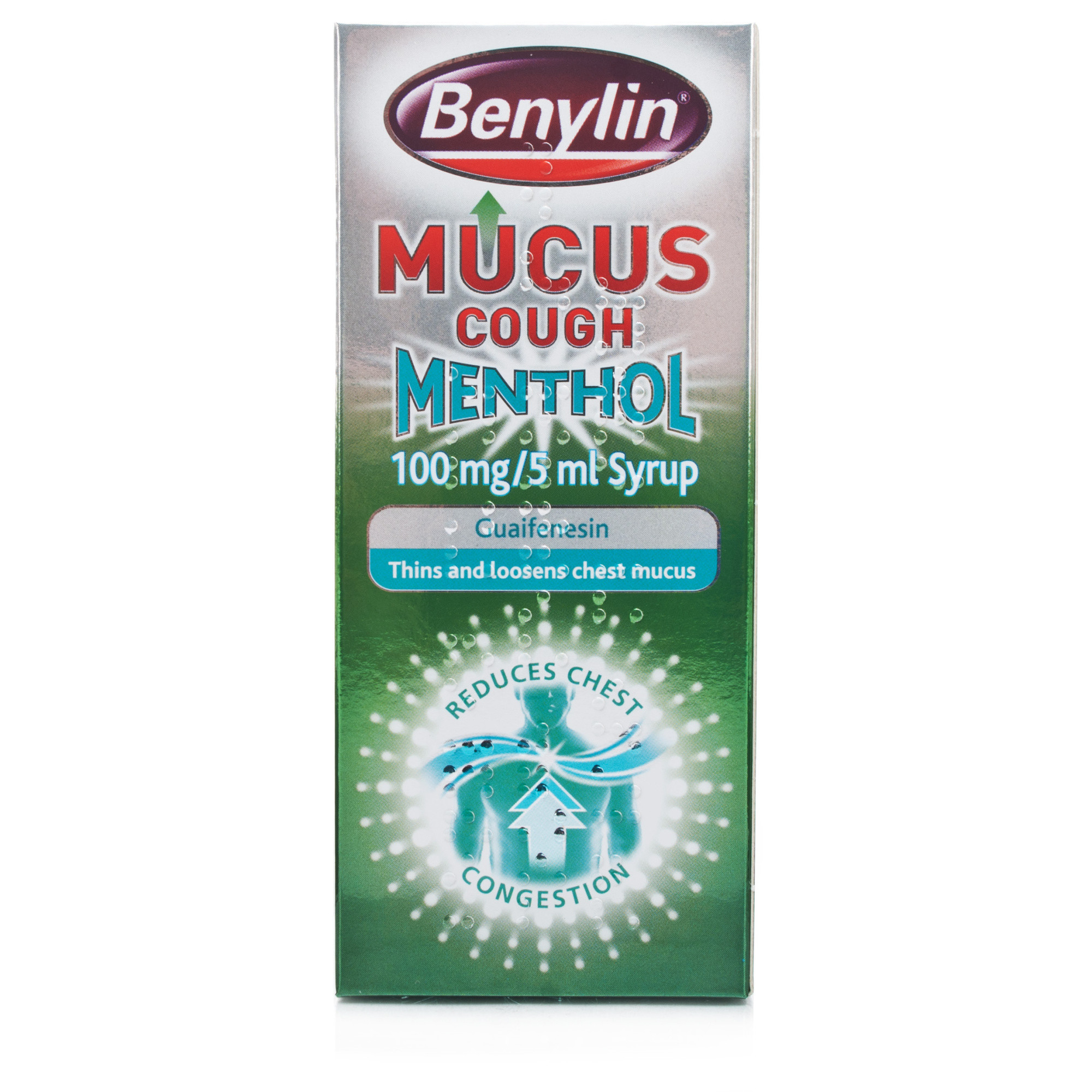 Benylin Mucus Cough Menthol 100mg/5ml Syrup 150ml