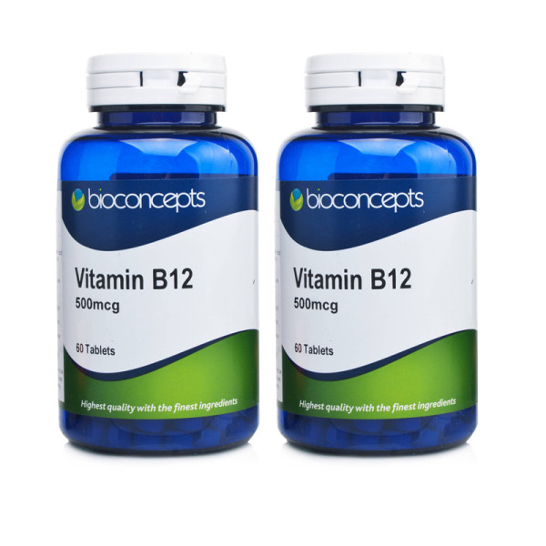 Bioconcepts Vitamin B12 500mcg Twin Pack