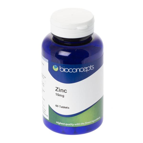 Bioconcepts Zinc 15mg Tablets