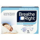 Breathe Right Congestion Relief Nasal Strips Clear Large Eight Pack