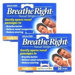 Breathe Right Nasal Regular Size Tan Twin Pack