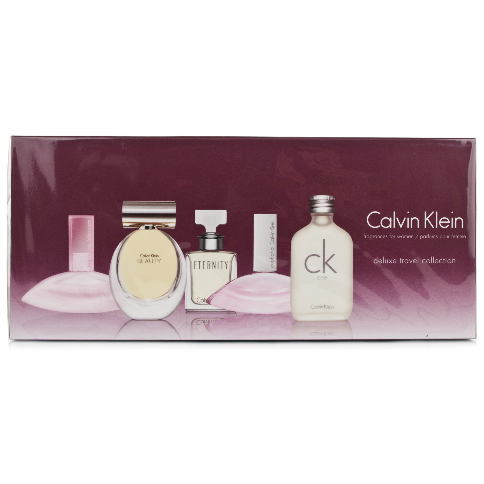 calvin klein ladies 5pc mini set chemist direct. Black Bedroom Furniture Sets. Home Design Ideas