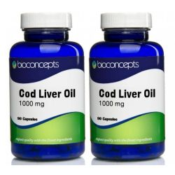 Cod Liver Oil Soft Gels 1000mg Twin Pack