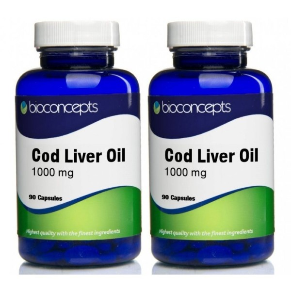 Bioconcepts Cod Liver Oil Soft Gels 1000mg Twin Pack