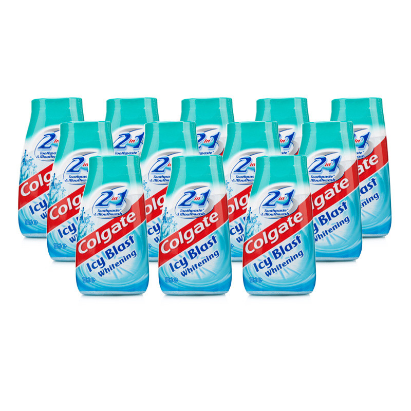 Colgate 2 in 1 Icy Blast Whitening Toothpaste & Mouthwash 12 Pack