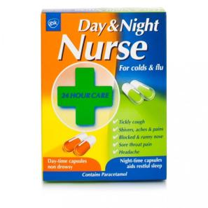 Day & Night Nurse Capsules Duo 24s for Cold and Flu ...