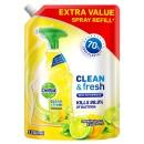 Dettol Clean & Fresh Multipurpose Cleaning Refill Spray Lemon