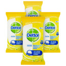 Dettol Power & Fresh Multi-Purpose Citrus Wipes 4 Pack