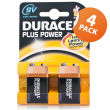 Duracell Plus Power 9v 4 Pack