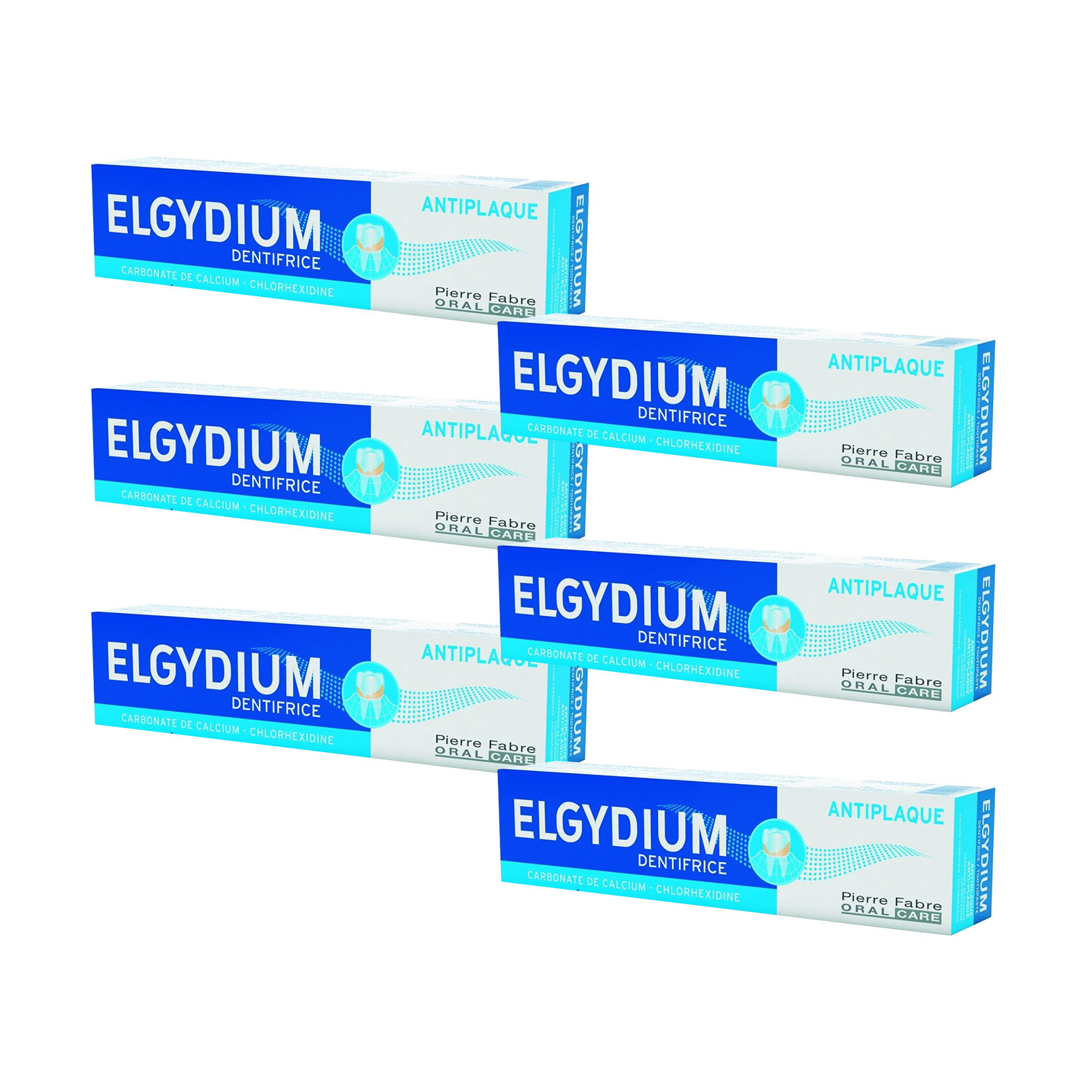 Elgydium AntiPlaque Toothpaste 75ml  6 Pack