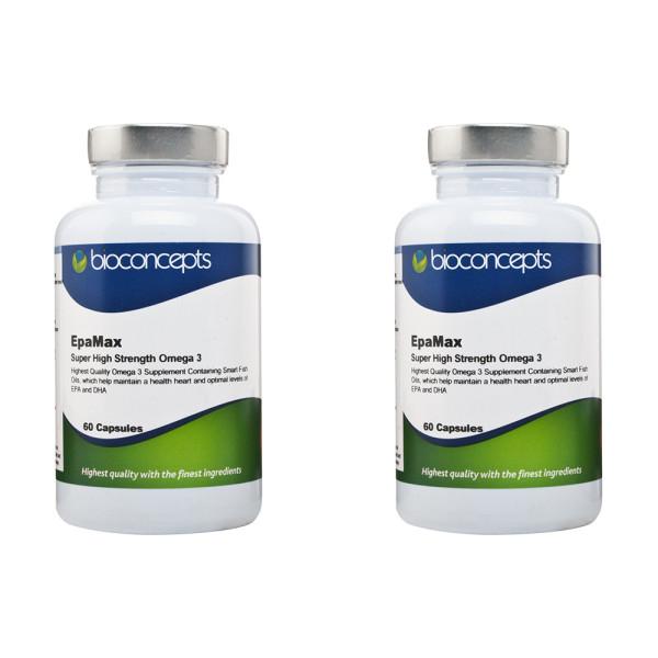 Bioconcepts EpaMax Omega 3 Super High Strength - Twin Pack
