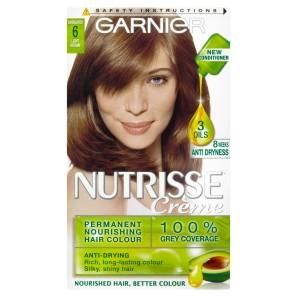 Buy Garnier Nutrisse 6 Light Brown Permanent Hair Dye Chemist Direct