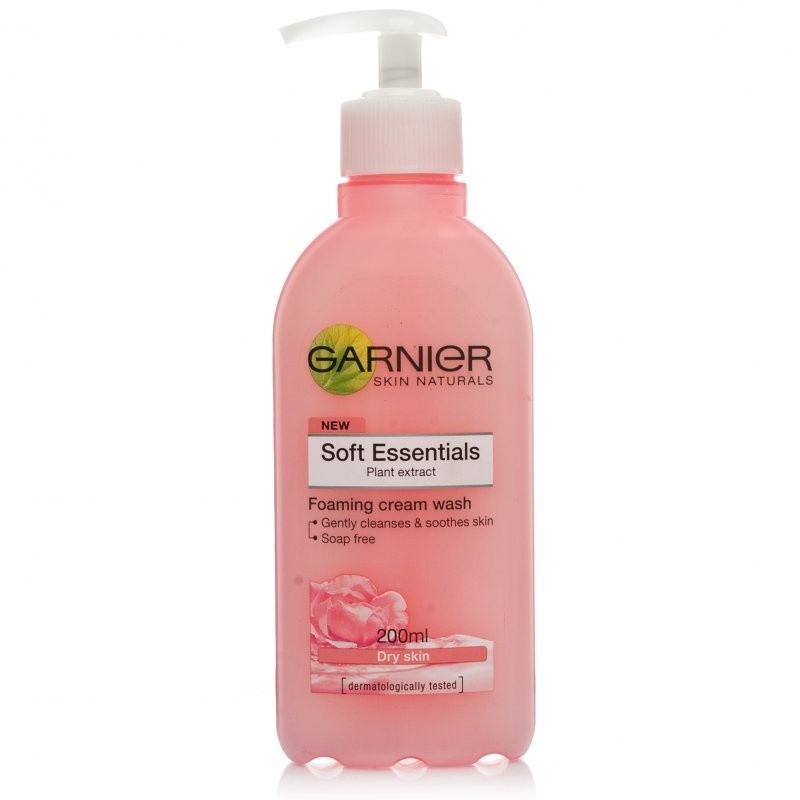 Garnier Soft Essentials Foaming Cream Wash Dry Skin