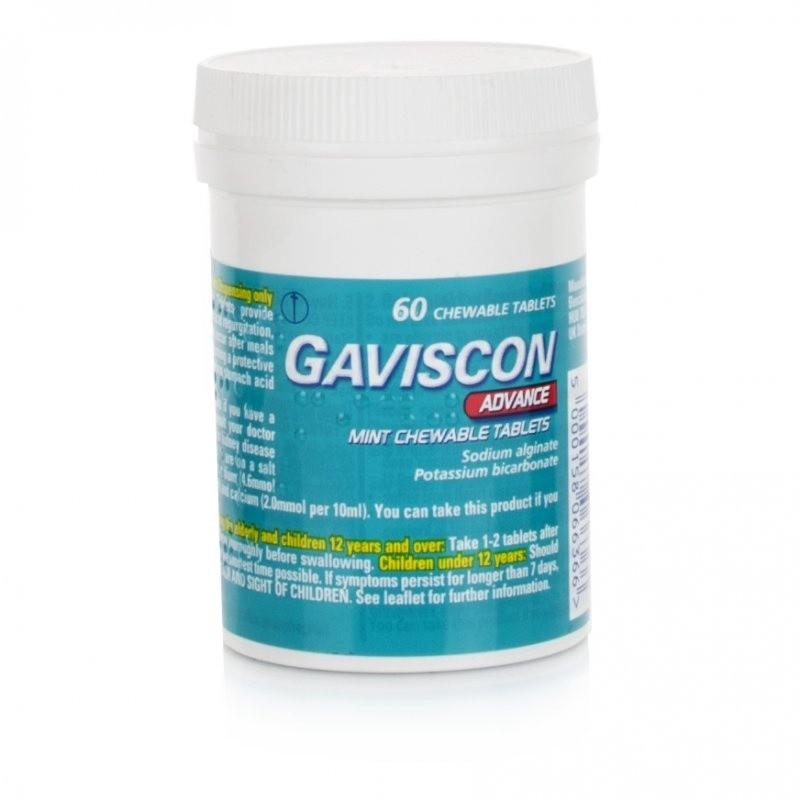 Gaviscon Advance Chewable Tablets Peppermint Flavour