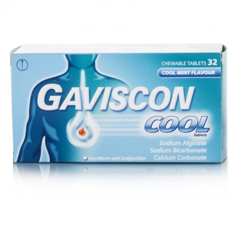 Gaviscon Cool Peppermint Flavour Tablets