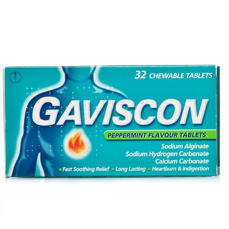 Gaviscon Peppermint Tablets 250mg