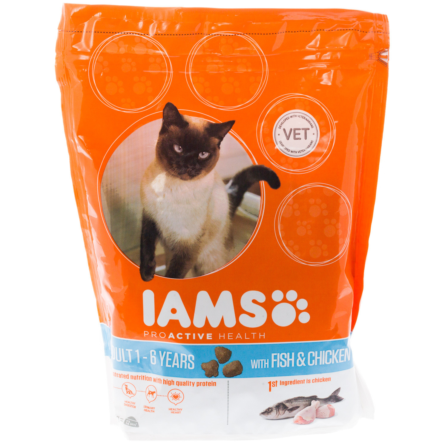 Image of IAMS Adult Cat Fish and Chicken 800g