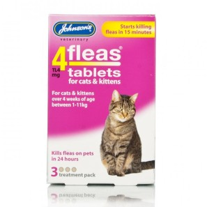 johnsons 4fleas tablets for cats and kittens pets. Black Bedroom Furniture Sets. Home Design Ideas