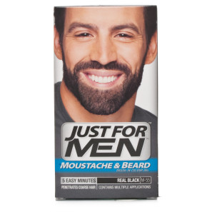 Buy Just For Men Moustache   Beard Brush - In Colour - Real Black 856bb3b761b29