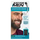 Just For Men Moustache & Beard Brush - In Colour - Dark Brown/Black