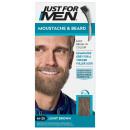 Just For Men Moustache & Beard Brush - In Colour - Light Brown