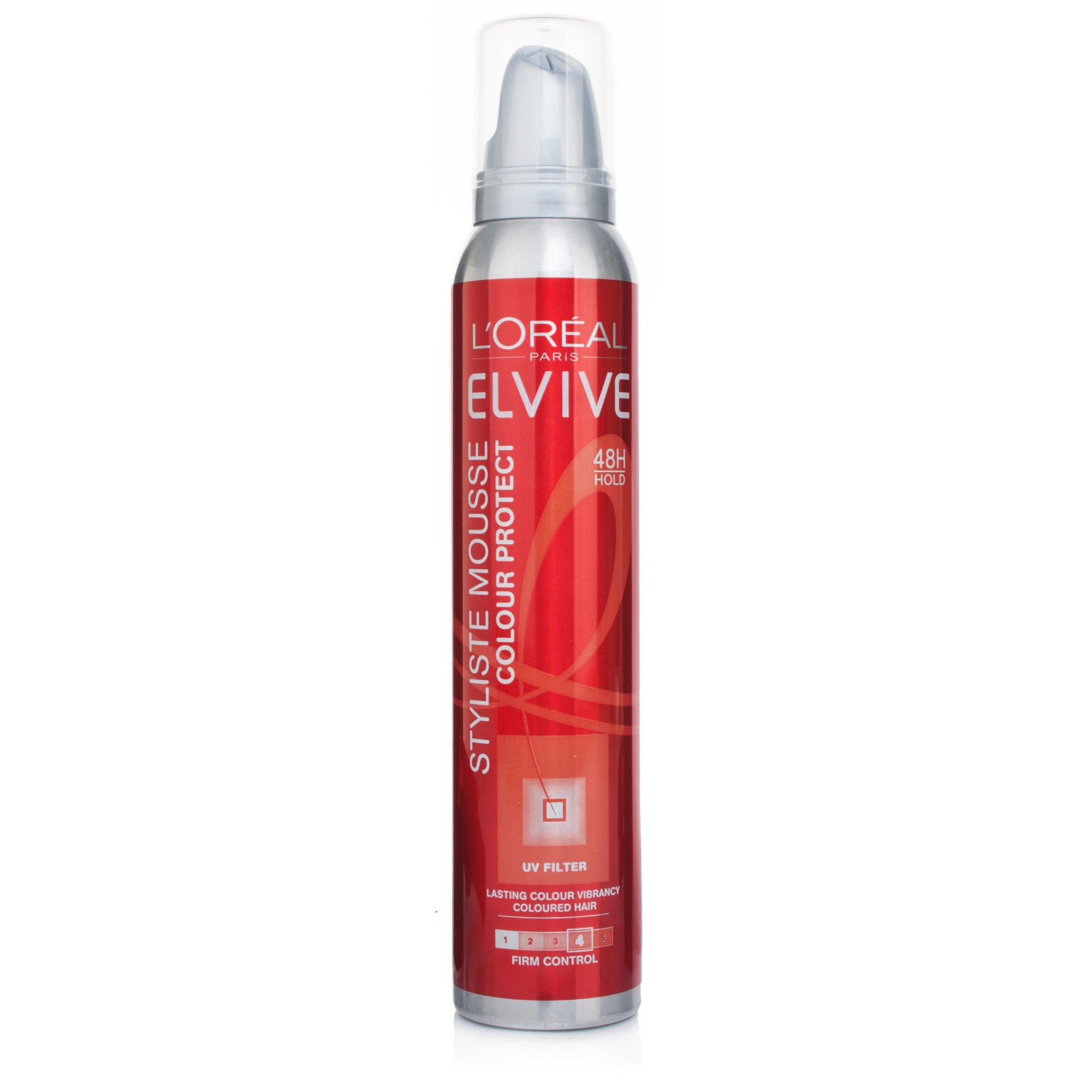 L Oreal Elvive Styliste Mousse Colour Protect Firm Control