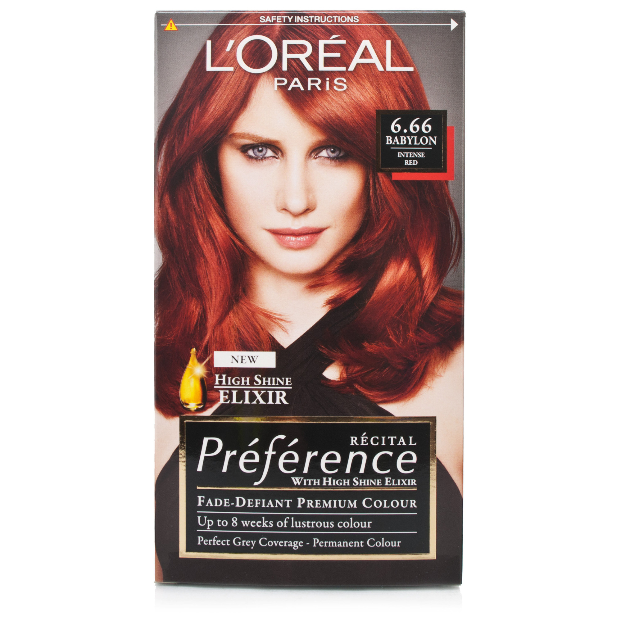 Red l oreal recital preference 6 66 babylon intense red