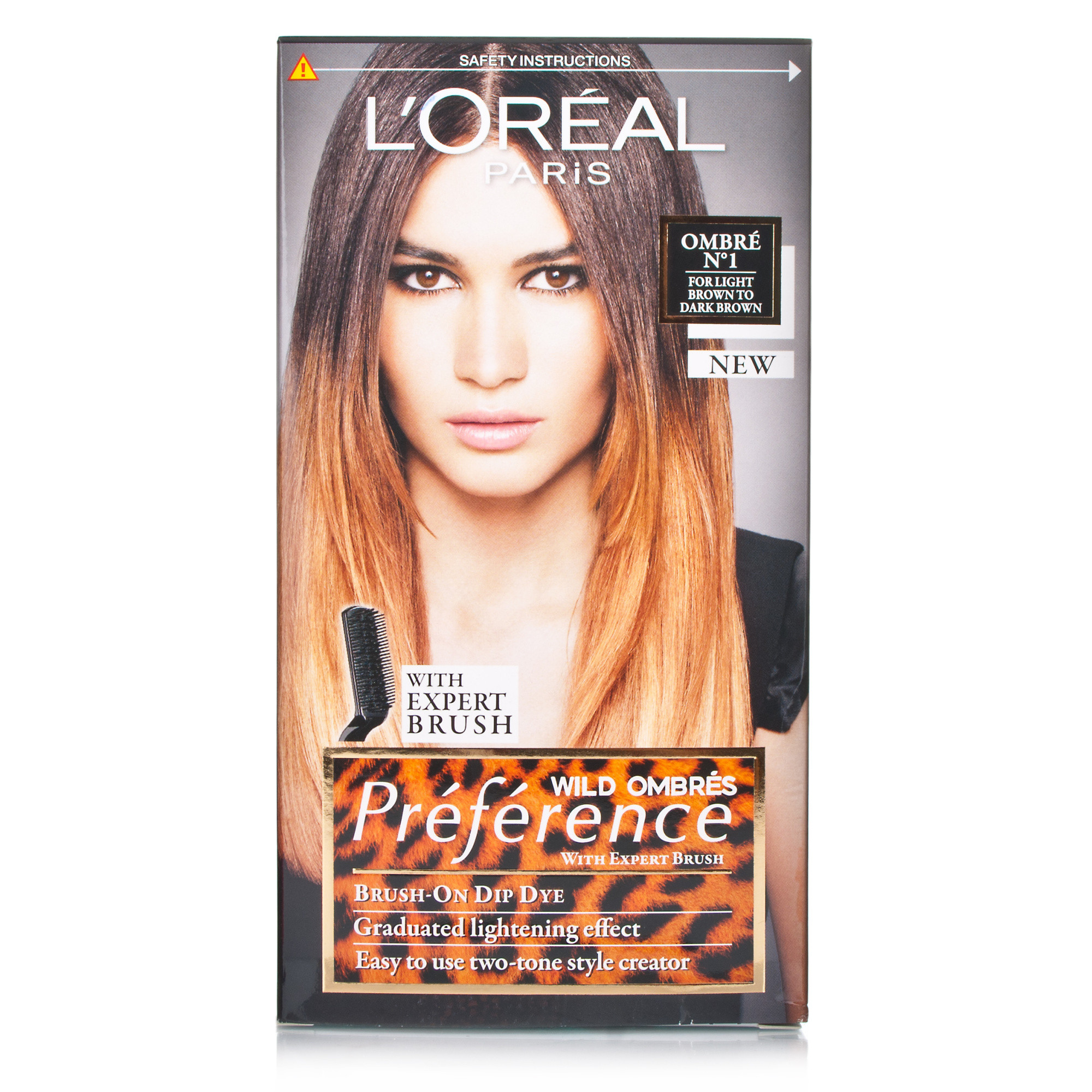 l 39 oreal recital preference wild ombre light brown to dark brown hair care product reviews and. Black Bedroom Furniture Sets. Home Design Ideas