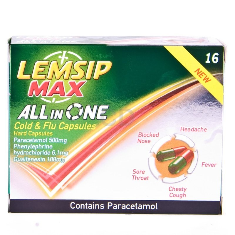 Lemsip Max All In One Cold & Flu Capsules 16