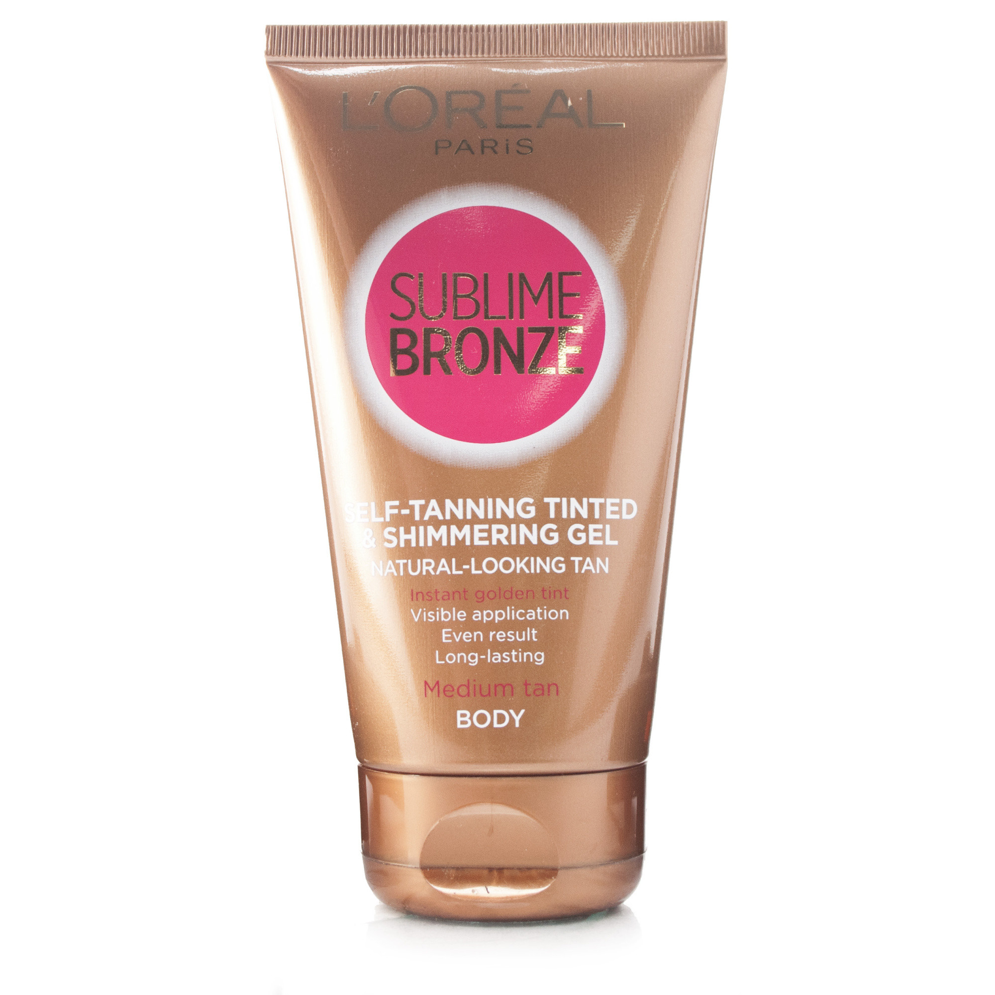 L'oreal Sublime Bronze Self-Tanning Gel Tinted & Shimmering Medium Skin