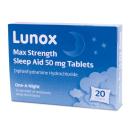 Lunox Max Strength Sleep Aid 50mg Tablets