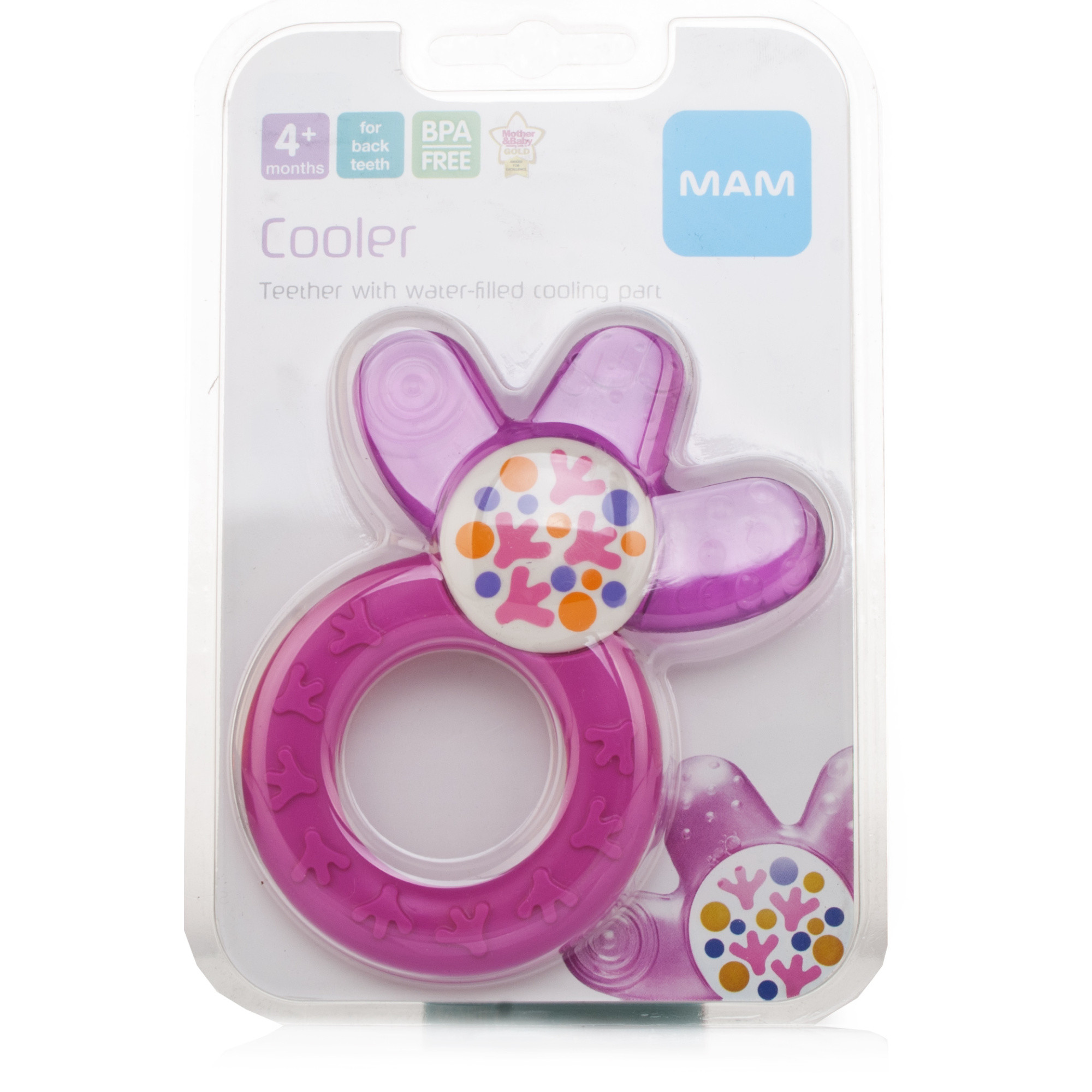 MAM Cooler Teether Pink