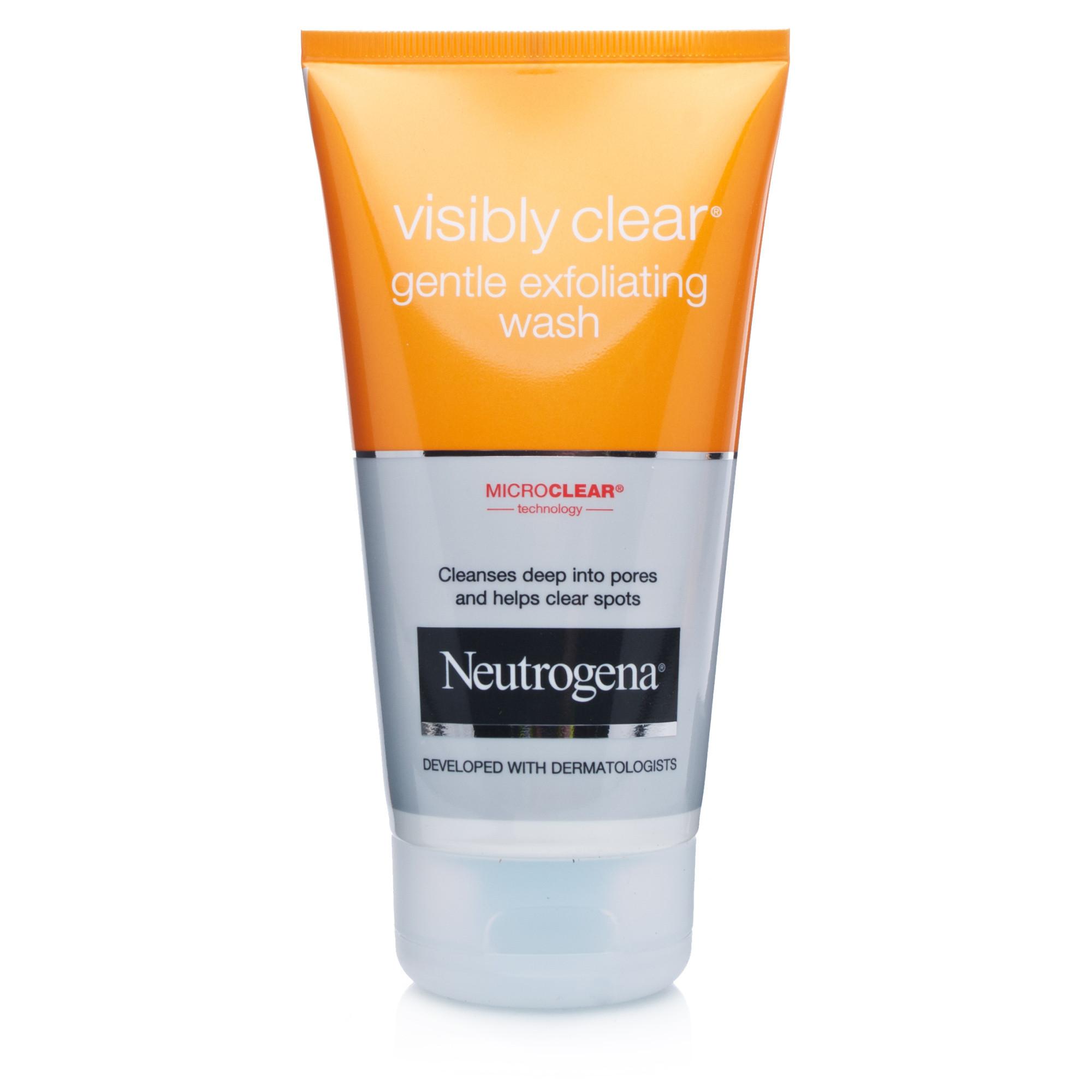 neutrogena visibly clear gentle exfoliating wash ebay. Black Bedroom Furniture Sets. Home Design Ideas