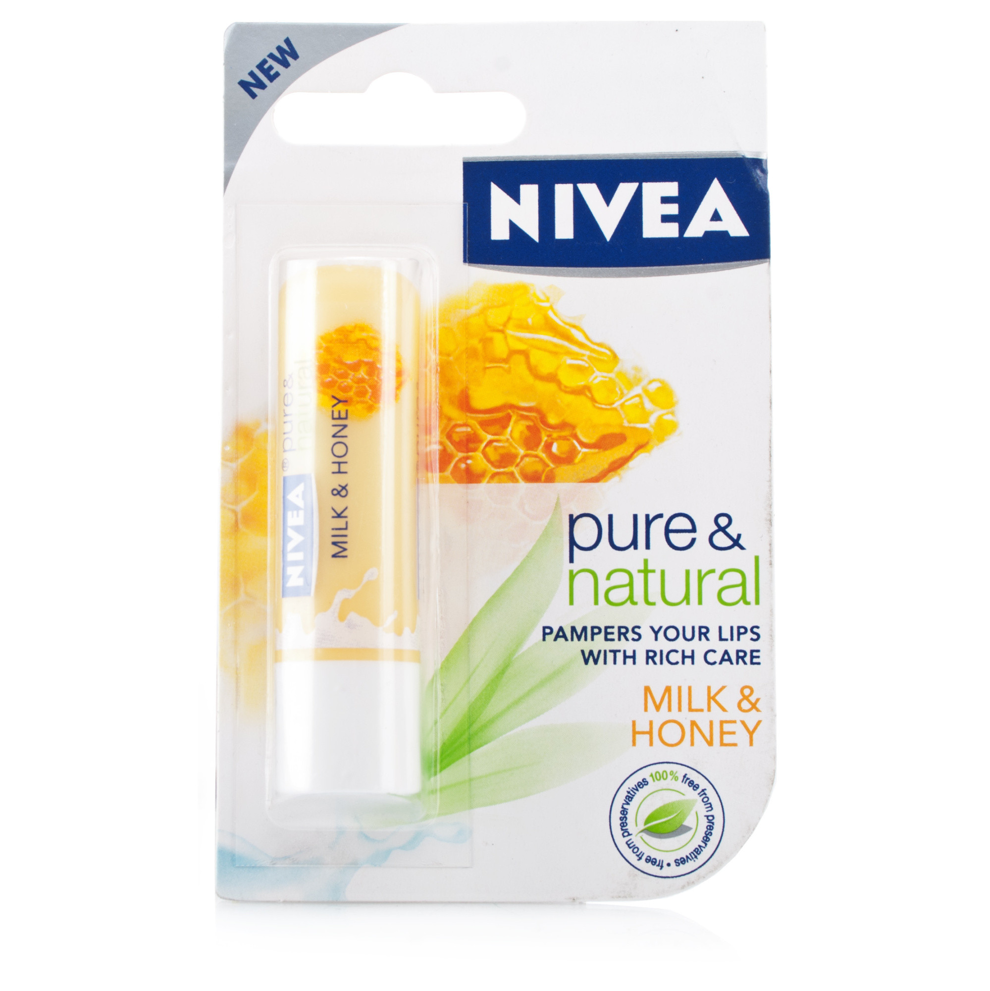 Nivea Pure & Natural Milk & Honey Lip Balm