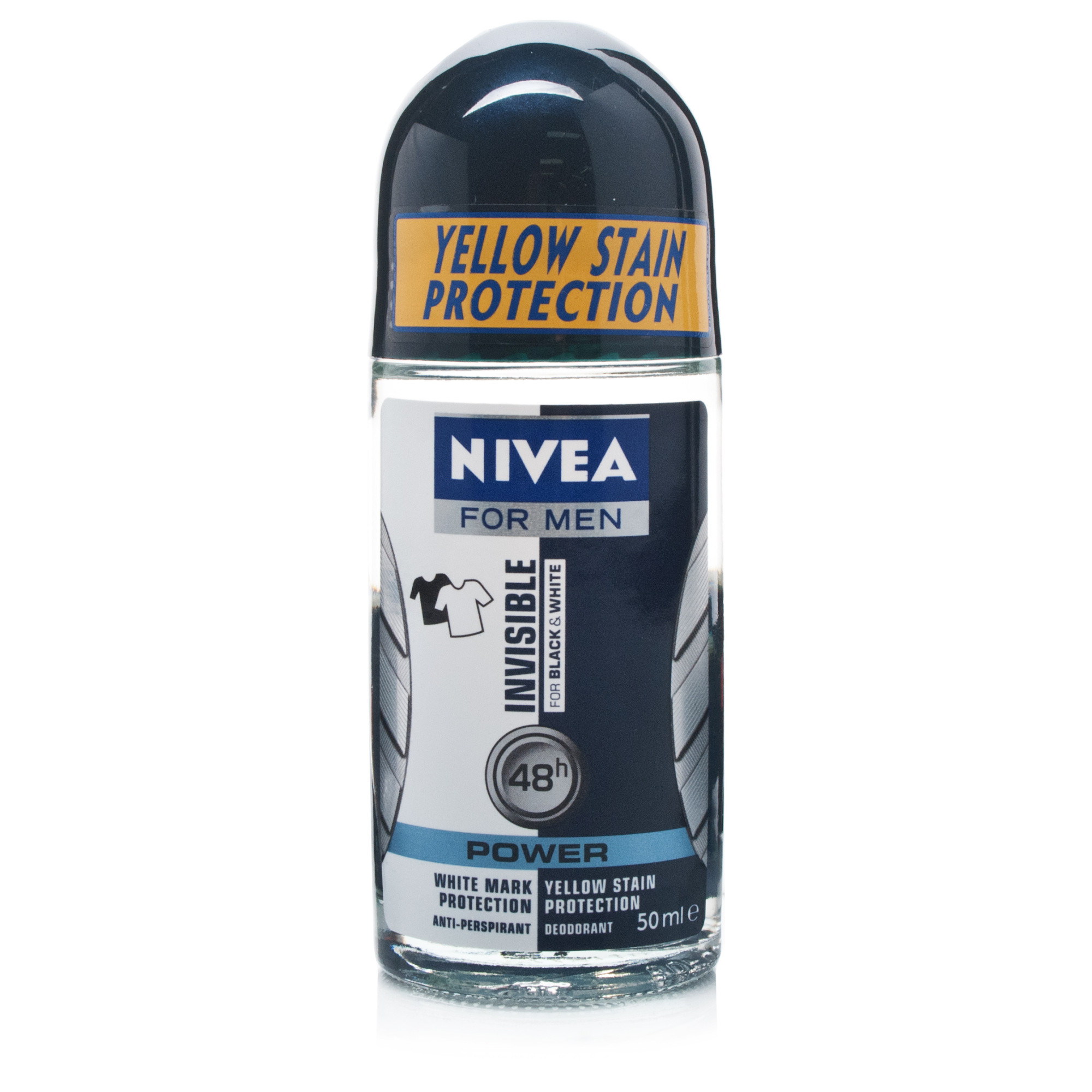 Nivea for Men Invisible Black & White Deodorant Roll-On