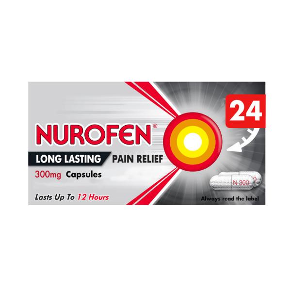 Nurofen Long Lasting Pain Relief 300mg Prolonged Release Capsules