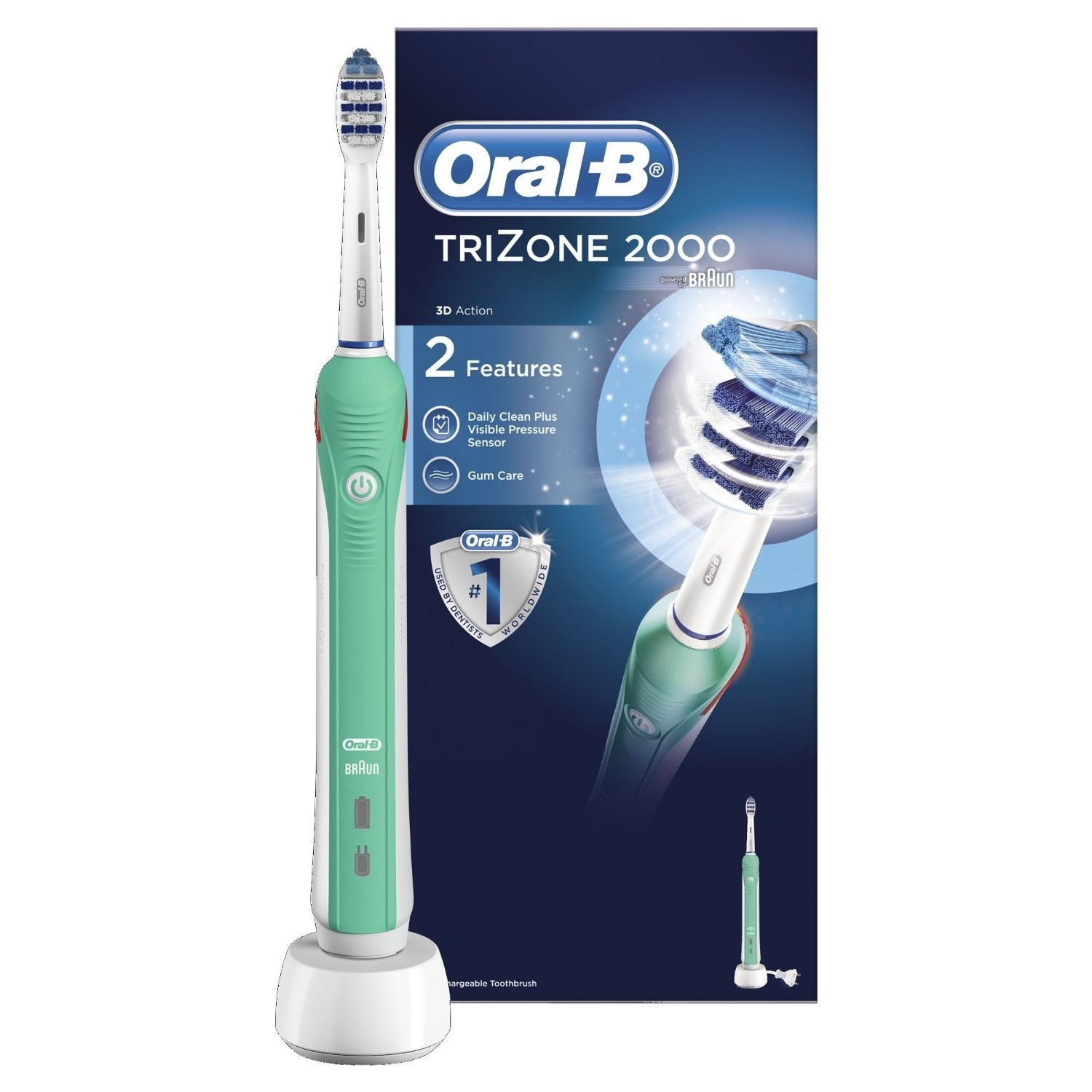 OralB Trizone 2000 Electric Rechargeable Toothbrush Powered by Braun