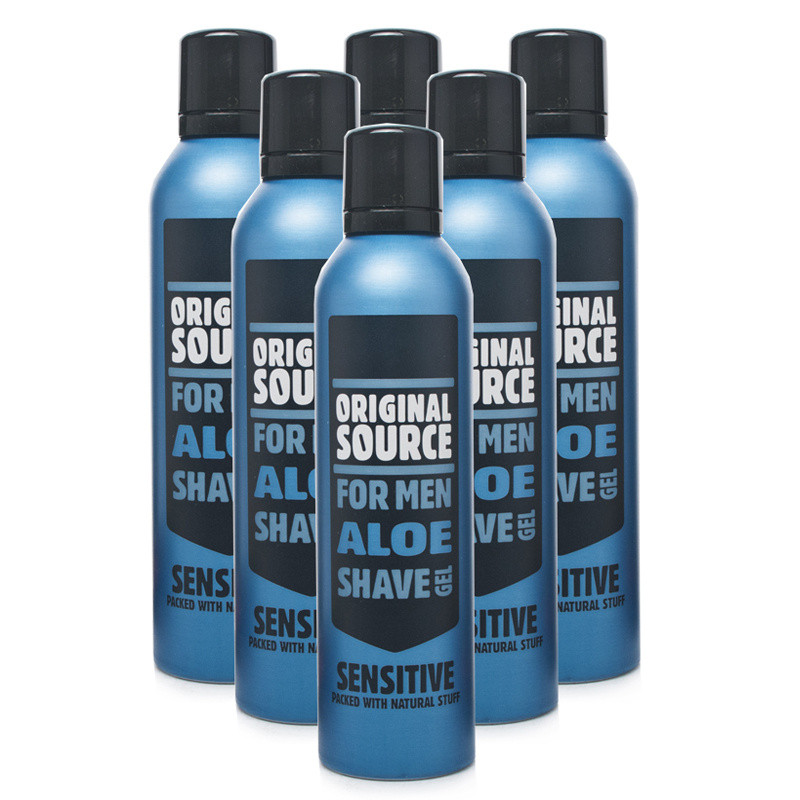Original Source Sensitive Shave Gel Aloe Vera 6 Pack